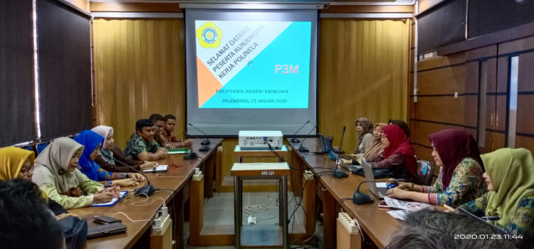 UPPM Polinela Melaksanakan Kunjunga Kerja Ke P3M Politeknik Negeri Sriwijaya